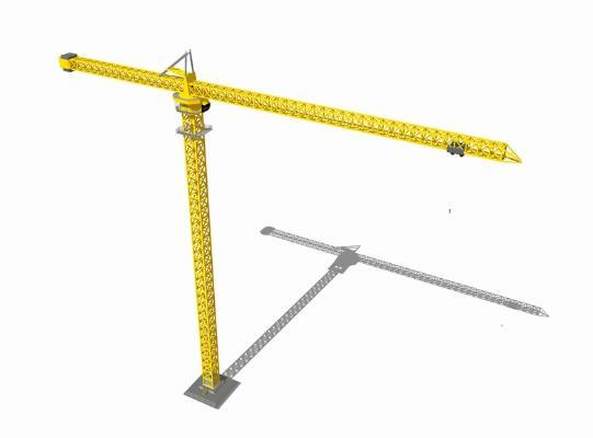 吊塔 塔吊 施工机械SU模型