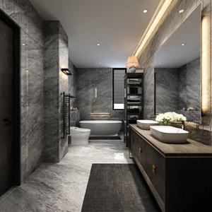 现代卫生间 现代卫浴 台盆 卫浴柜 马桶 浴缸 置物架