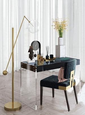 Elicyon新作 英国低奢梳妆台椅 现代梳妆台 椅子 落地灯 钟表