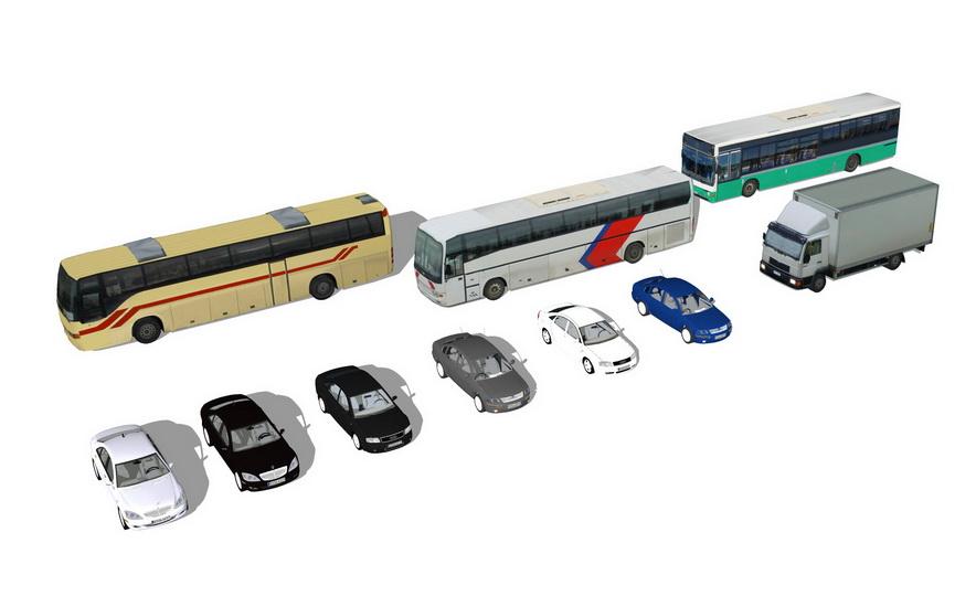 汽车组合SU模型