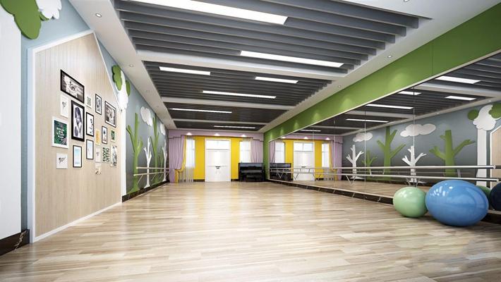 儿童舞蹈教室 现代娱乐会所 瑜伽球 钢琴 学校 儿童舞蹈教室