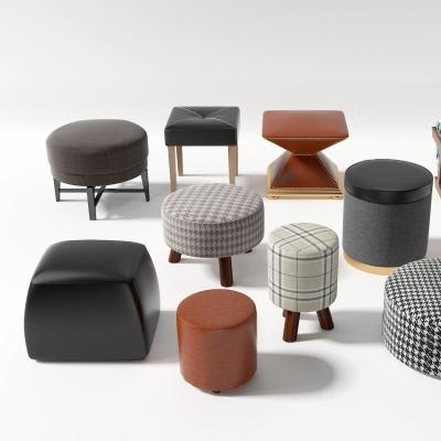 现代凳子组合3d模型