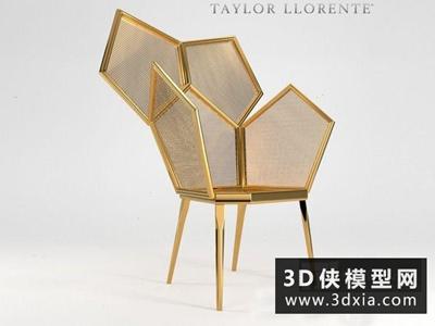 现代金属椅子