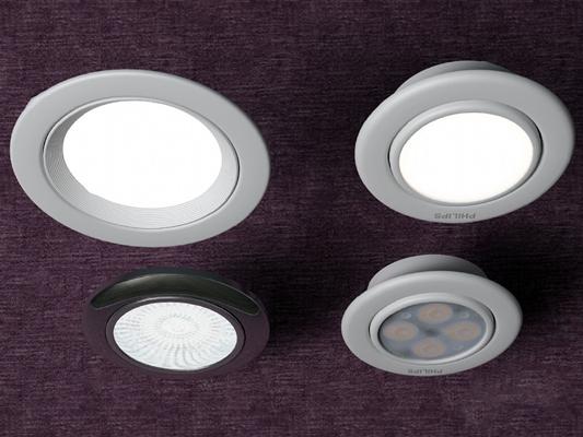 现代筒灯3D模型