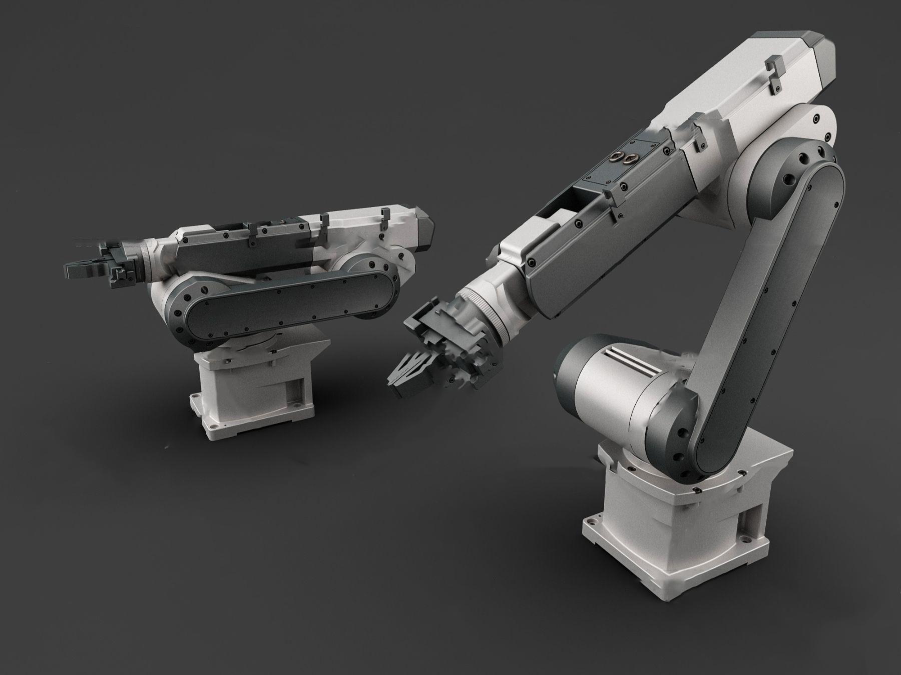 现代工业设备自动化机械手3d模型