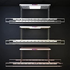 现代自动升降晾衣架组合3d模型