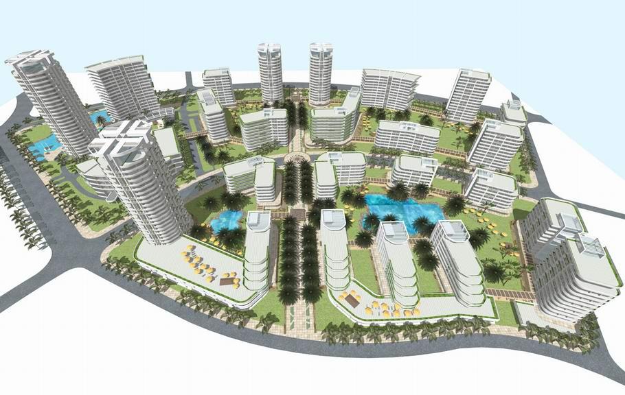 惠州养老社区规划SU模型