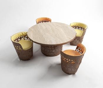 现代户外木质桌椅 现代户外椅 户外桌 户外椅