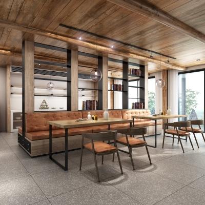 工业风民宿主题餐厅3D模型