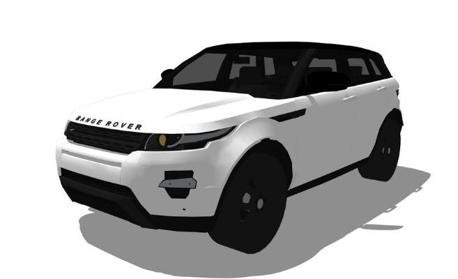 路虎SUV汽车SU模型