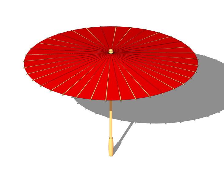 油纸伞SU模型