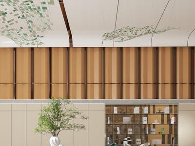 众睦设计现代售楼处 休息区