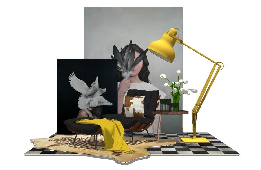现代家具组合SU模型