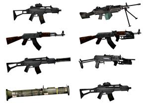 现代机枪冲锋枪组合3D模型