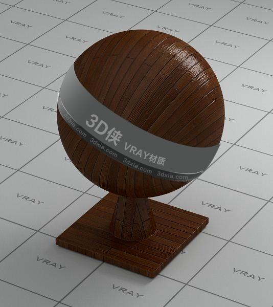 棕色木地板Vray材质下载