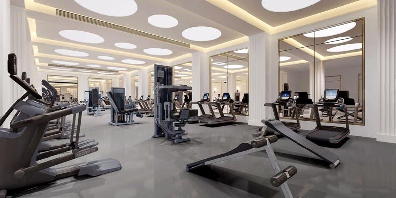 现代健身房 现代健身房 健身器材 跑步机