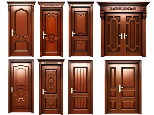 欧式实木门组合 欧式门 实木门 双开门 雕花