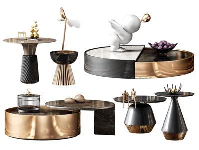 现代茶几 现代茶几 角几 饰品摆件 雕塑