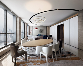梁景华现代办公休息区接待室3D模型