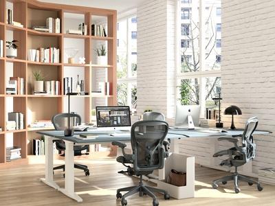 北欧办公桌椅组合 屏风 楚昂胡