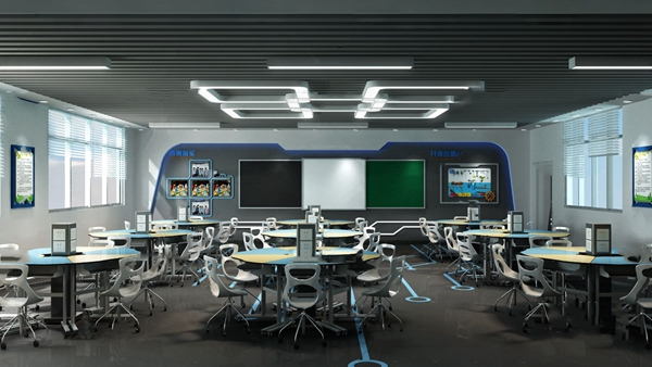 现代科技实验教室3d模型