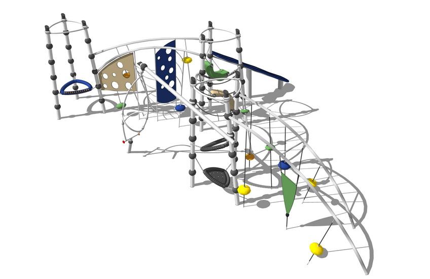 儿童游乐设施SU模型