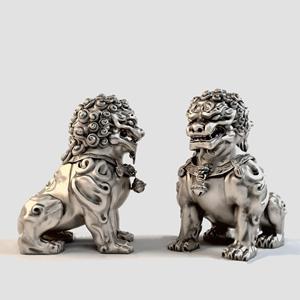 中式石狮子塑像 中式雕刻 石狮子塑像 动物雕塑