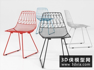 现代铁丝椅子