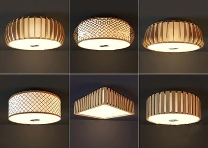日式木質吸頂燈組合 日式吸頂燈 木質吸頂燈組合