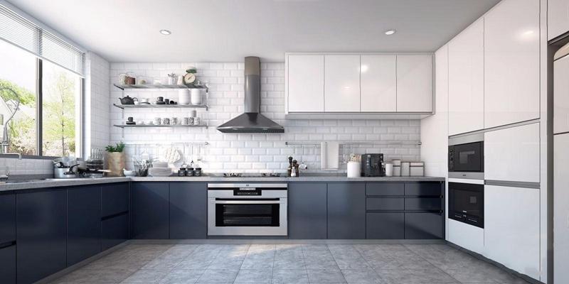 北欧厨房 现代厨房 橱柜 吊柜 厨具 烤箱 厨房用品