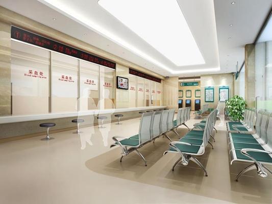 医院候诊大厅 医院候诊大厅 等候区 椅子 绿植 医院候诊大厅 等候区 椅子 绿植