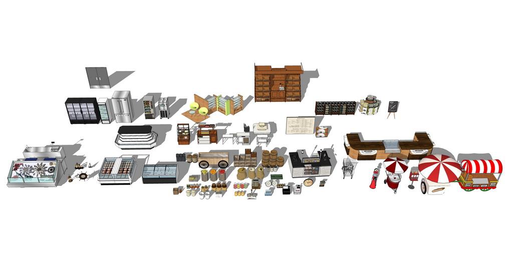 超市货架组合SU模型