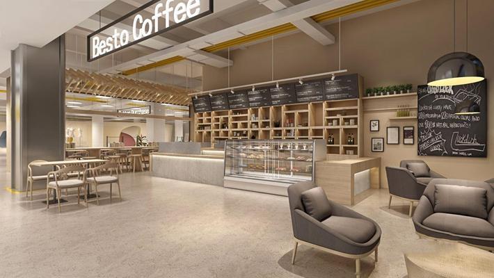 北欧咖啡店 北欧咖啡厅 收银台 蛋糕柜 吊灯 餐桌椅 吧台 吧椅 咖啡店