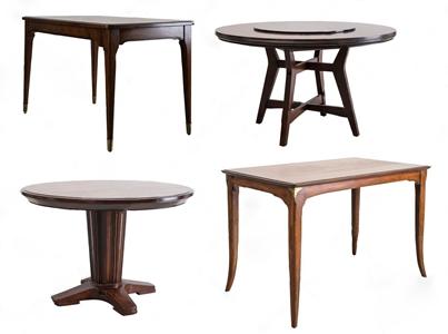 美式餐桌组合 美式餐桌 圆餐桌 长餐桌