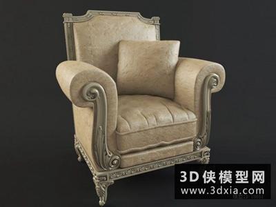 欧式单人沙发