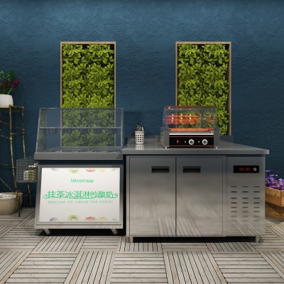 现代炒冰机烤肠机摆件组合3D模型