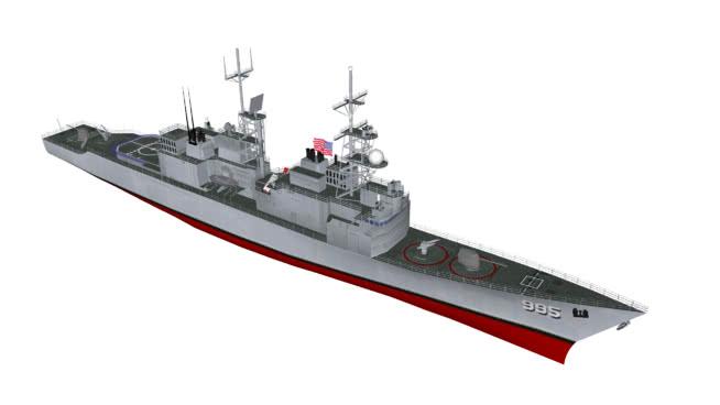 USS DDG995斯科特号(基德级DDG) 航空母舰 潜艇 邮船
