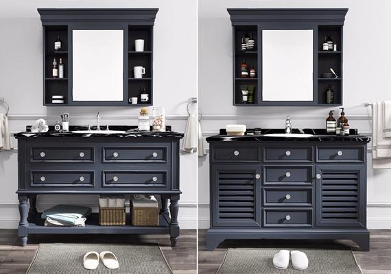美式整体浴室柜镜壁柜五金配件组合 美式卫浴用品 台盆柜 洗手台 拖鞋