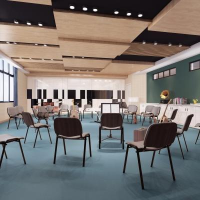 现代音乐教室3D模型