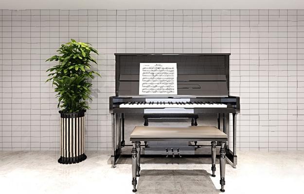 现代钢琴3D模型