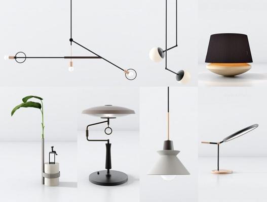 北欧灯具组合 北欧灯具 台灯 吊灯