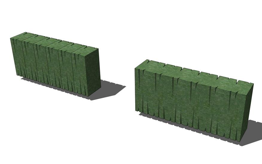 绿篱SU模型