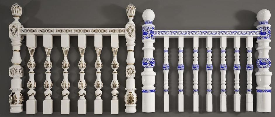 欧式中式栏杆组合 欧式栏杆 中式栏杆