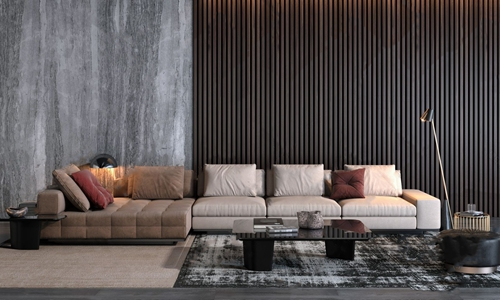 意大利Minotti沙发茶几组合 现代沙发茶几组合 多人沙发 转角沙发 茶几 边几 凳子 落地灯 台灯 意大利 米洛提 Minotti