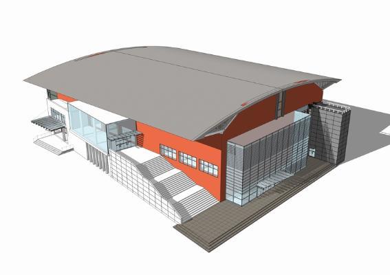 现代图书馆SU模型