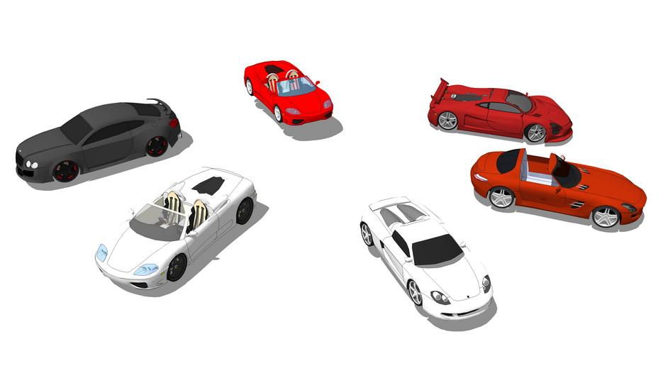 法拉利汽車SU模型