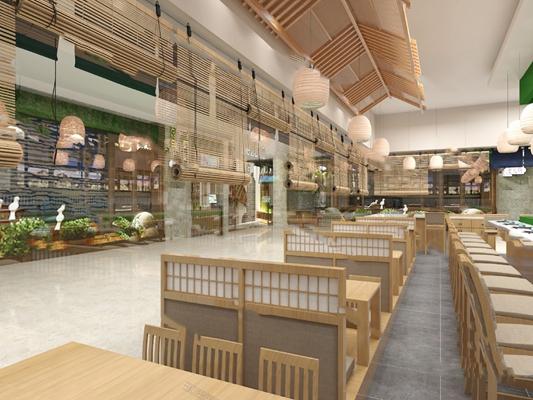 日式寿司店3D模型