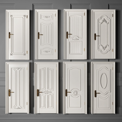 欧式实木单开门组合3D模型