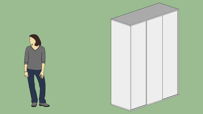 衣柜推拉门1.50 2.00 m x 60 x 镜子 书 冰箱 其他 衣柜