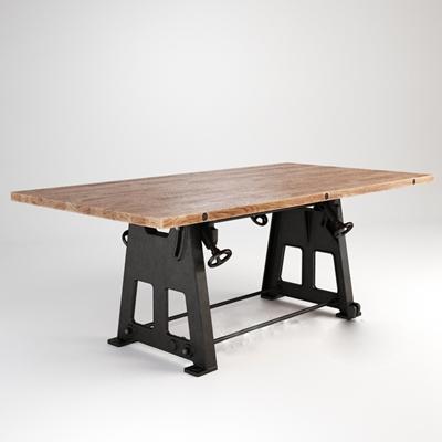 工业风长方形餐桌